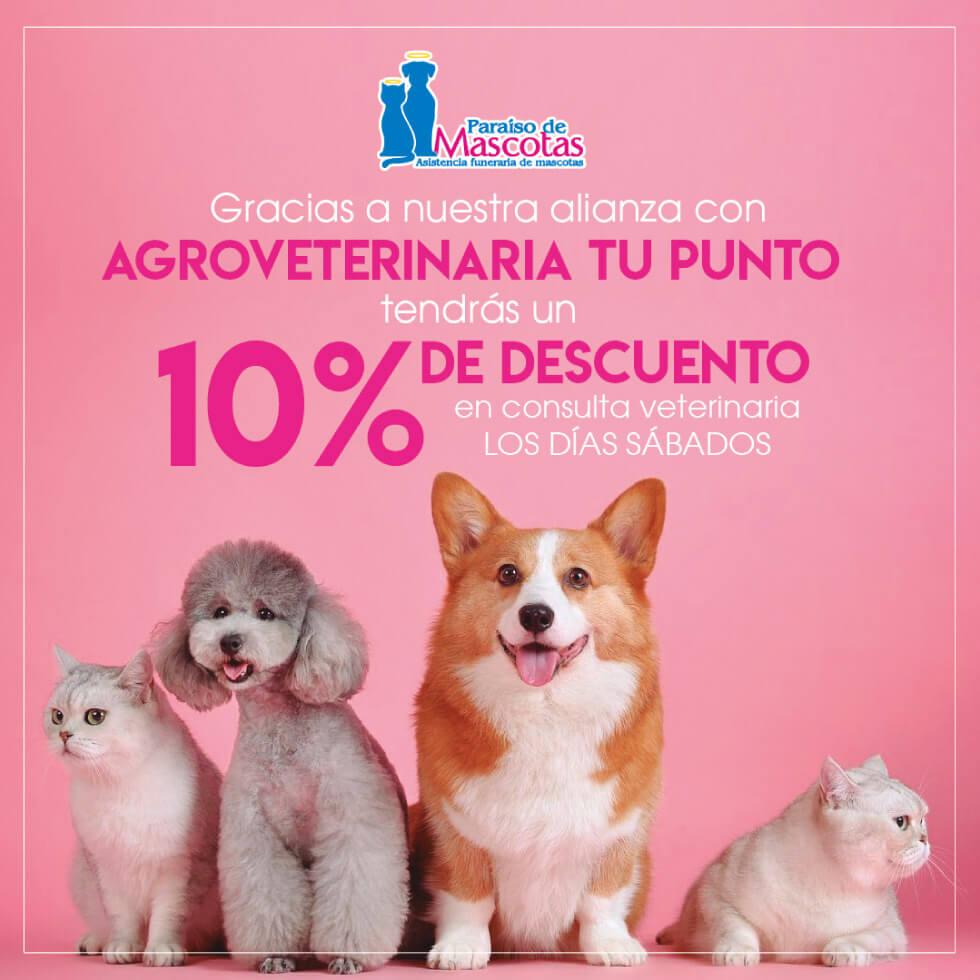Alianza Paraiso de mascotas y Agroveterinaria Tu Punto
