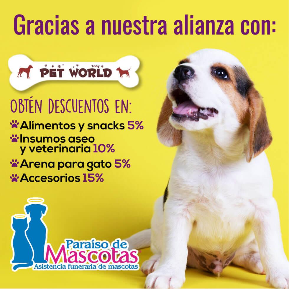 Alianza Paraiso de mascotas y Pet World